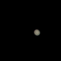 Jupiter, with cloud bands showing.
